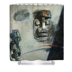 Symbol Mask Painting -02 Shower Curtain