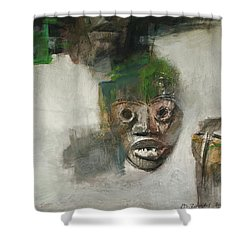 Symbol Mask Painting - 06 Shower Curtain