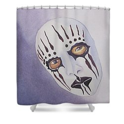Shower Curtain featuring the painting Mask I by Teresa Beyer