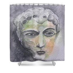 Shower Curtain featuring the painting Mask II by Teresa Beyer