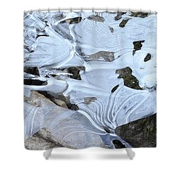 Shower Curtain featuring the photograph Ice Mask Abstract by Glenn Gordon
