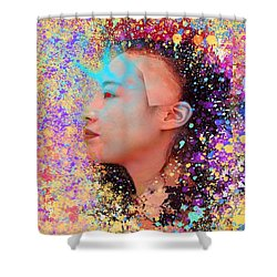 Mask Of Impressionism Shower Curtain by Matthew Lacey