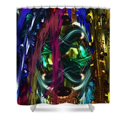 Mask Of The Spirit Guide Shower Curtain