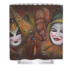 Mask Row Shower Curtain