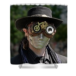 Masked Man - Steampunk Shower Curtain