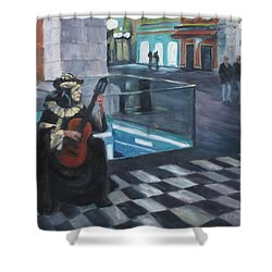 Masked Musician Shower Curtain