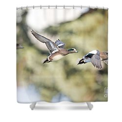 Masked Procession Shower Curtain