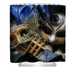 Masked Twins Shower Curtain