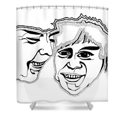 Masks Shower Curtain