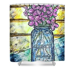 Mason Jar Bouquet Shower Curtain