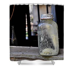 Mason Jar Shower Curtain by Todd Hostetter