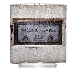 Masonic Temple Shower Curtain