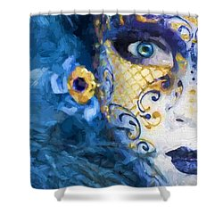 Masquerade I Shower Curtain