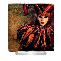 Masquerade Shower Curtain by Jacky Gerritsen