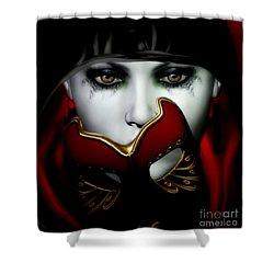 Masquerade Shower Curtain by Shanina Conway