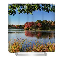 Shower Curtain featuring the photograph Massapequa Nature Preserve by Jose Oquendo