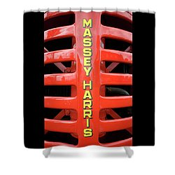Massey Harris Red Tractor Rib Cage Shower Curtain