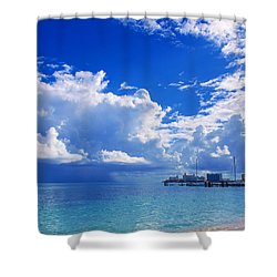 Massive Caribbean Clouds Shower Curtain