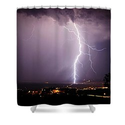 Massive Lightning Storm Shower Curtain