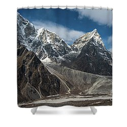 Shower Curtain featuring the photograph Massive Tabuche Peak Nepal by Mike Reid
