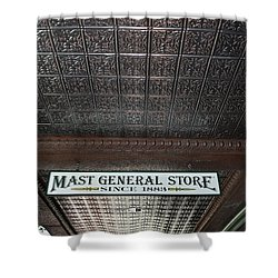 Shower Curtain featuring the photograph Mast General Store II by Skip Willits