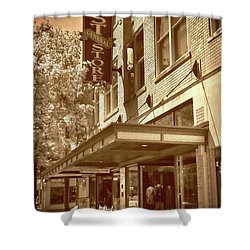 Shower Curtain featuring the photograph Mast General Store by Skip Willits