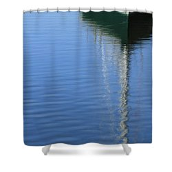 Mast Reflections Shower Curtain by Karol Livote