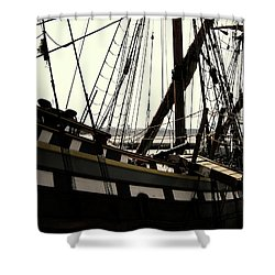 Master And Commander V2 Shower Curtain by Douglas Barnard