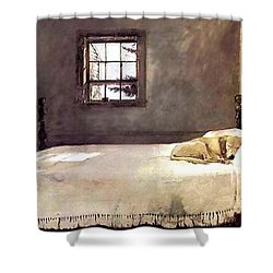 Master Bedroom  Shower Curtain by Andrew Wyeth