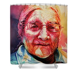 Shower Curtain featuring the painting Windows To The Soul by J- J- Espinoza