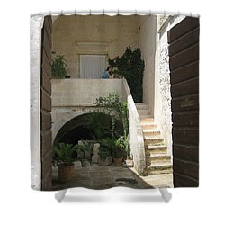Matera, Italian Courtyard Shower Curtain