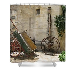 Matera Old Horsecart Italy Shower Curtain