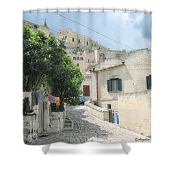 Matera's Colorful Laundry Shower Curtain