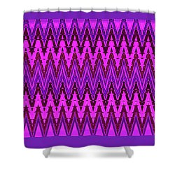 Material Things - Abstract Design - Pink Purple Red Shower Curtain