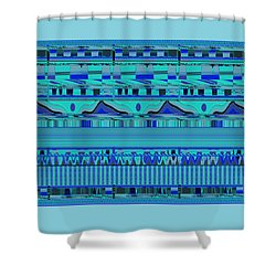 Shower Curtain featuring the digital art Material Things - Colors Of The Sea by Brooks Garten Hauschild