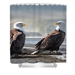 Mates For Life Shower Curtain by Dyle   Warren