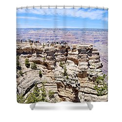 Mather Point At The Grand Canyon Shower Curtain by Julie Niemela
