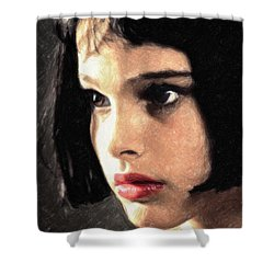 Mathilda Shower Curtain by Taylan Apukovska