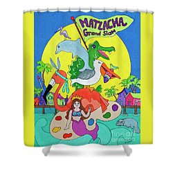 Matlacha Grand Slam Shower Curtain