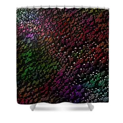 Shower Curtain featuring the digital art Matrizzavano by Jeff Iverson