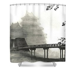 Matsumoto Morning Mist Shower Curtain