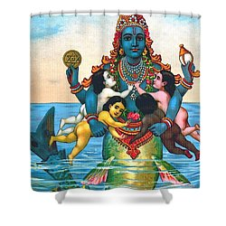 Matsya - Avatar Of Vishnu Shower Curtain by Pg Reproductions