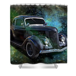 Matt Black Coupe Shower Curtain