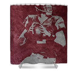 Matt Ryan Atlanta Falcons Shower Curtain by Joe Hamilton