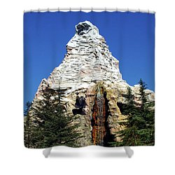 Matterhorn Disneyland Shower Curtain by Mariola Bitner