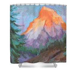 Shower Curtain featuring the painting Matterhorn Sunrise by Diane McClary