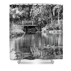 Matthaei Botanical Gardens Black And White Shower Curtain by Pat Cook