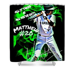 Matthew #20 Shower Curtain by Linda Cox