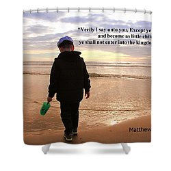 Matthew Eighteen Three Shower Curtain by Aaron Berg