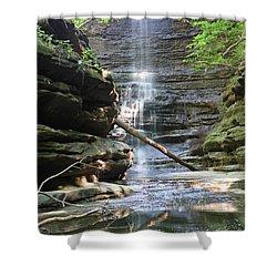 Matthiessen State Park Cascade Falls Shower Curtain